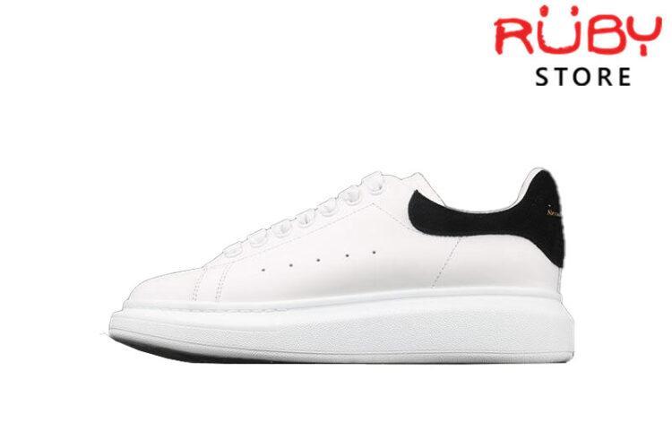 Giày Alexander Mcqueen gót đen nhung replica 1:1 rẻ nhất HCM