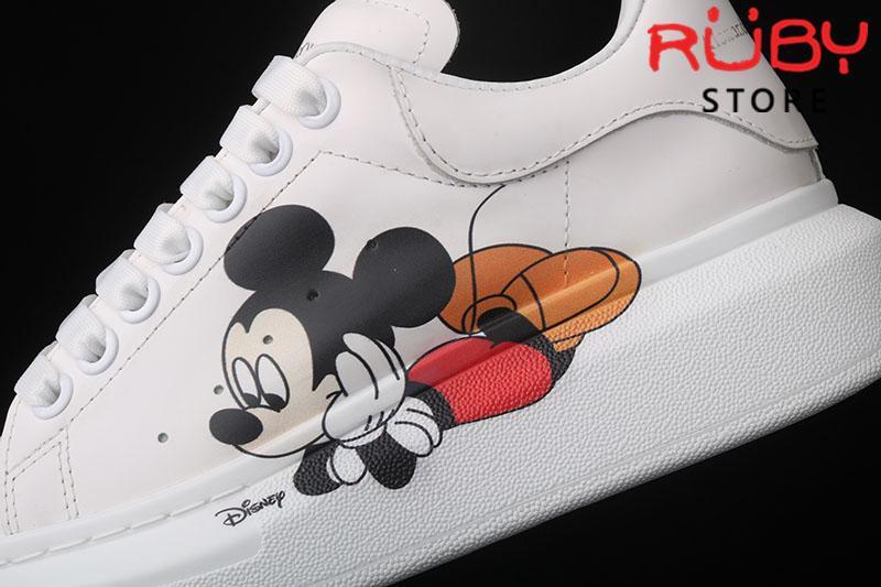 Giày Alexander McQueen chuột Mickey - logo chuột