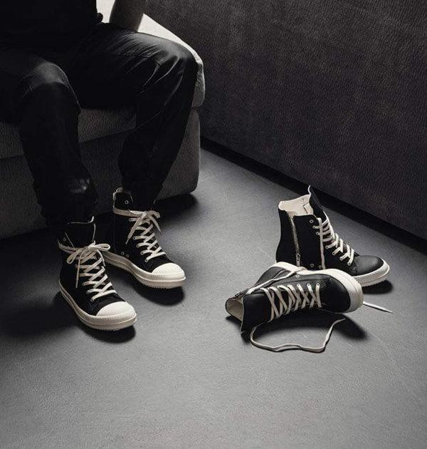Giày Rick Owens cổ cao