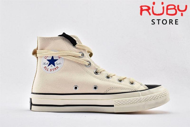 giày Converse x Fear of God Essentials màu trắng góc nhìn trái
