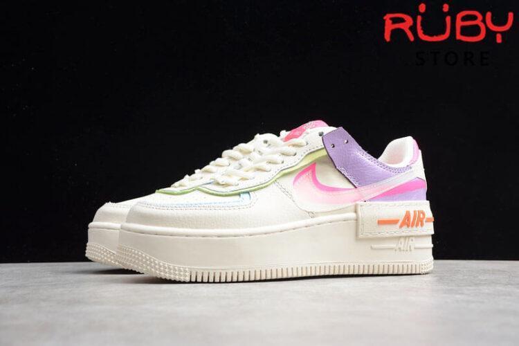 Đôi Giày Nike Air Force 1 Shadow Pale Ivory Pink Hồng Tím