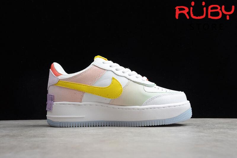 Phần chụp ngang phải Air Force 1 Shadow White Hydrogen