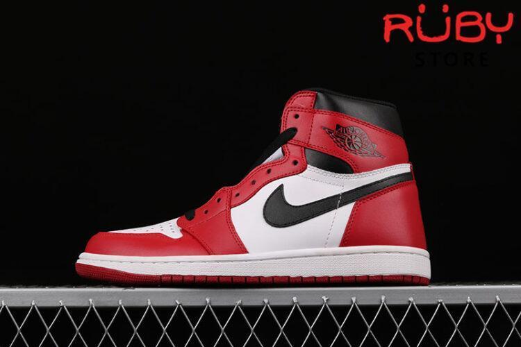 Giày Jordan 1 Retro Chicago Trắng Đỏ