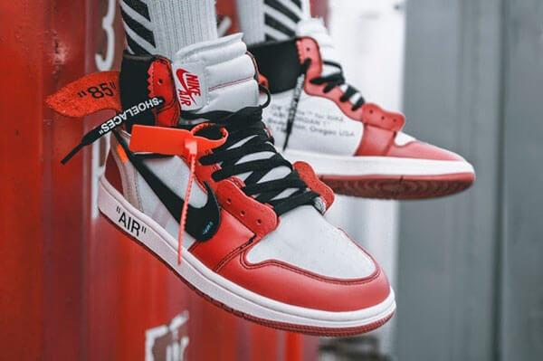 Giày Nike x Off-White Air Jordan 1 High 'Chicago' (2017)