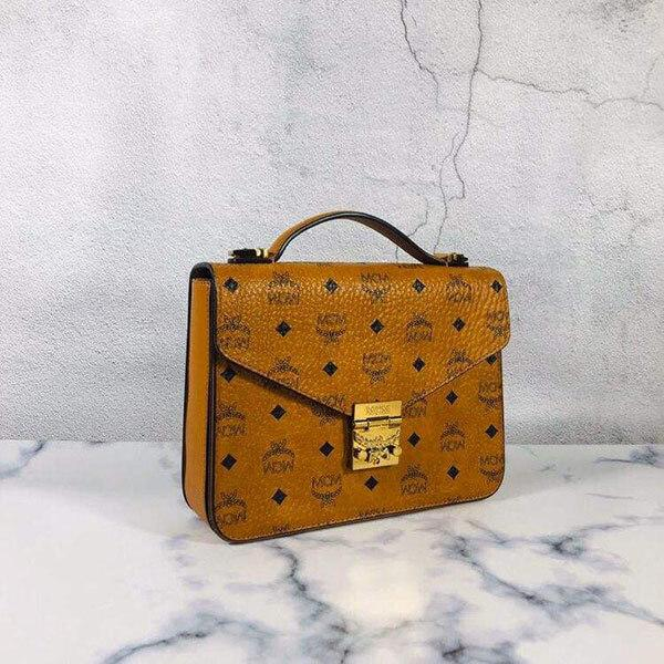 Túi MCM Patricia Satchel in Visetos Leather Block