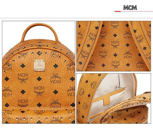 Ba Lô MCM Stark Side Studs Backpack in Visetos cổ điển