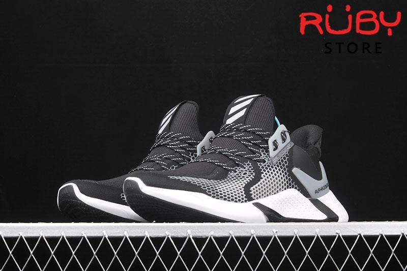 Giày Adidas Alphacounce 2020 đen trắng replica 1:1