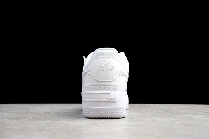 Giày Air Force 1 Shadow trắng full