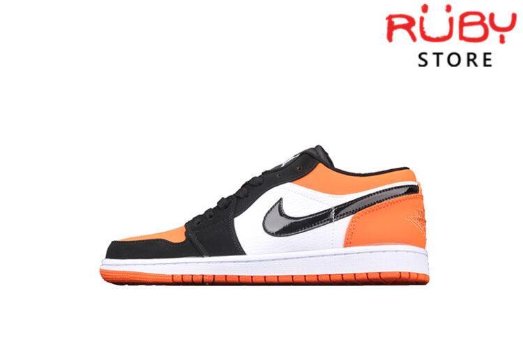 Giày Air Jordan 1 Low cổ thấp trắng cam đen rep 1:1