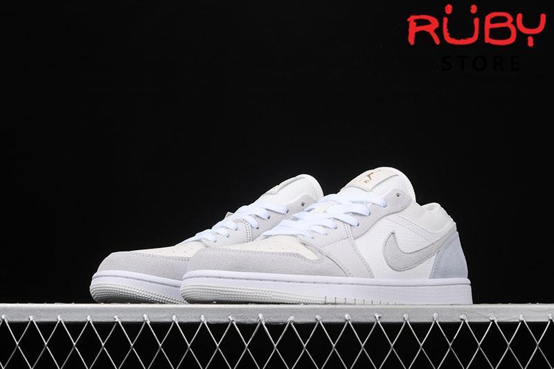 Giày Air Jordan 1 Low cổ thấp trắng da lộn