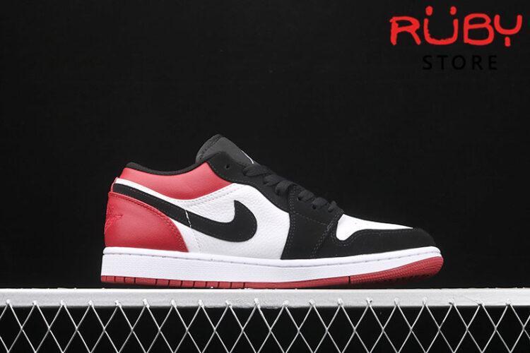 Giày Air Jordan 1 Low cổ thấp trắng đen đỏ rep 1:1
