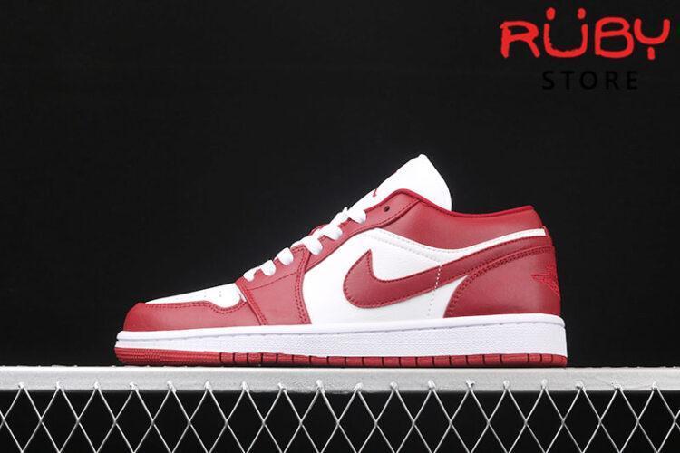 Giày Air Jordan 1 Low cổ thấp trắng đỏ