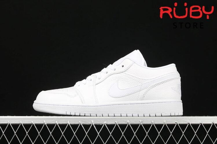 Giày Air Jordan 1 Low cổ thấp trắng full