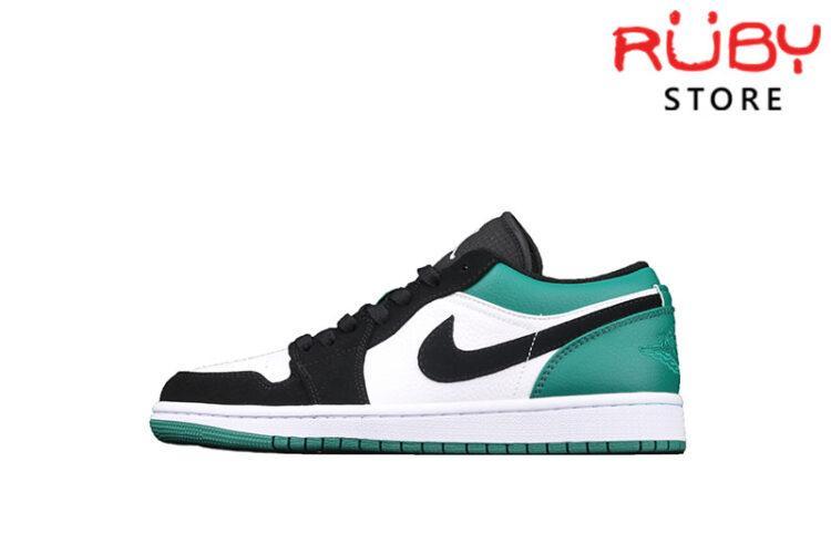 Giày Air Jordan 1 Low cổ thấp trắng xanh lá