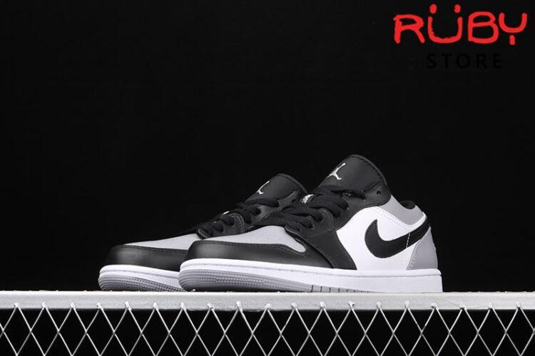 Giày Air Jordan 1 Low cổ thấp xám đen