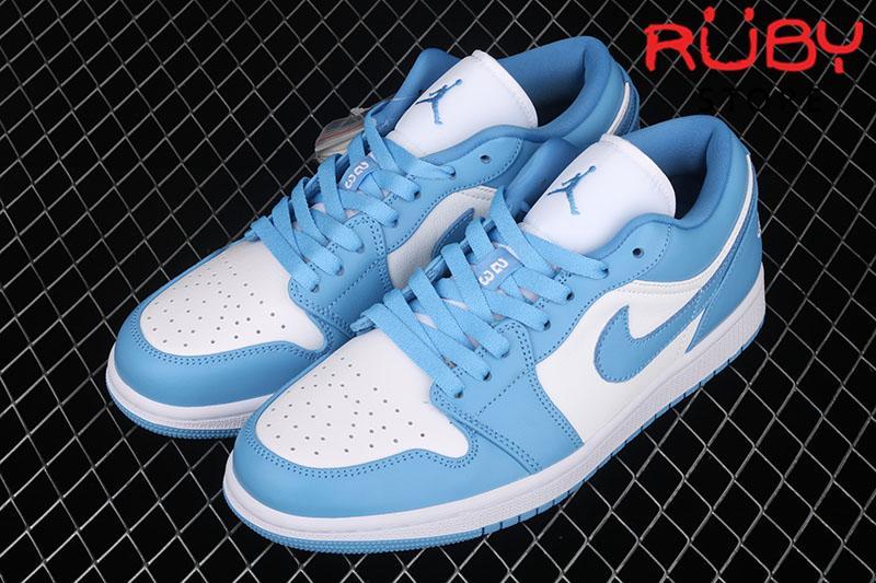 Giày Air Jordan 1 UNC Low Cổ Thấp Trắng Xanh Dương