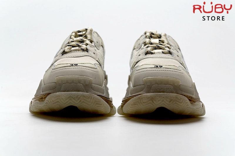 Giày Balenciaga Triple S Clear Sole Caramel cao cấp