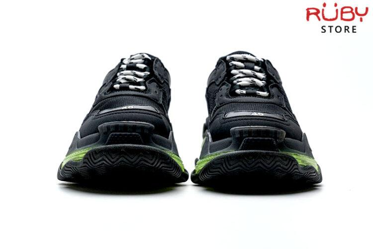 Giày Balenciaga Triple S Clear Sole đen đế xanh cao cấp