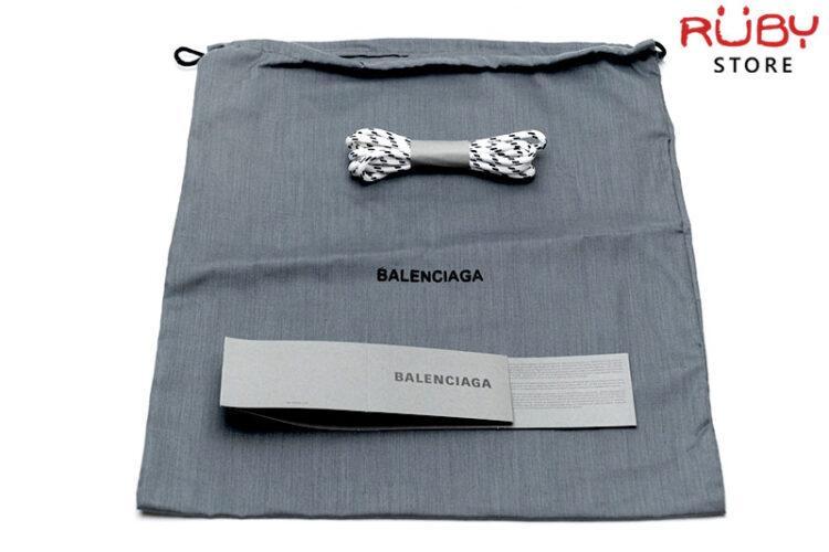 Giày Balenciaga Triple S Clear Sole trắng đỏ cao cấp