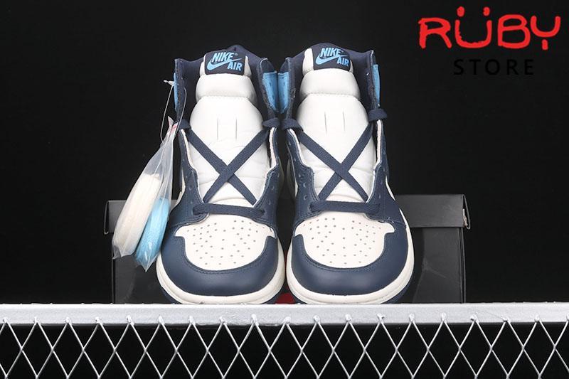 Giày Jordan 1 High Obsidian xanh dương rep 1:1