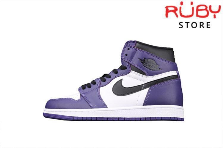 Giày Jordan 1 High trắng tím rep 1:1