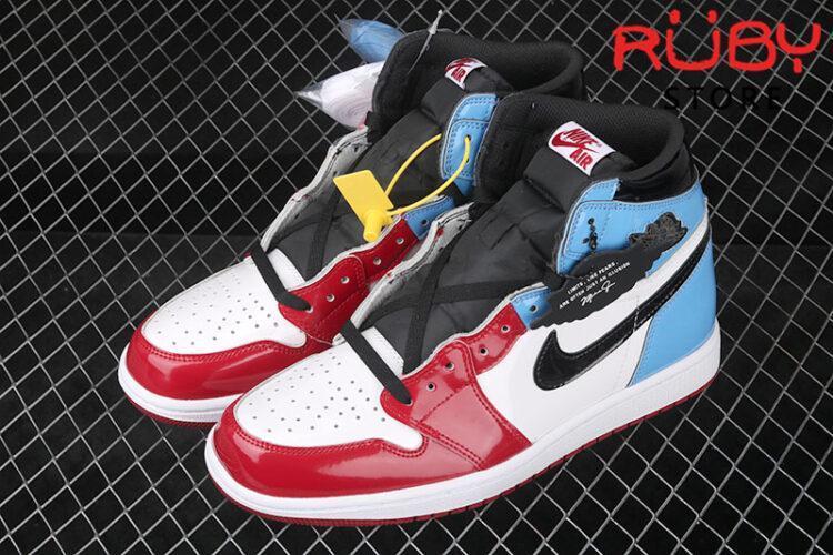 Giày Jordan 1 High xanh đỏ bóng