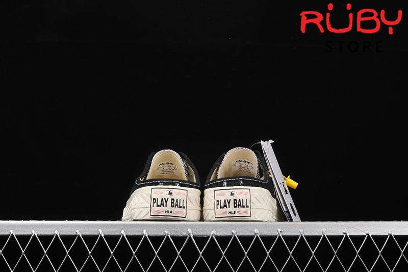 Giày lười MLB NY slip on màu đen rep 1:1