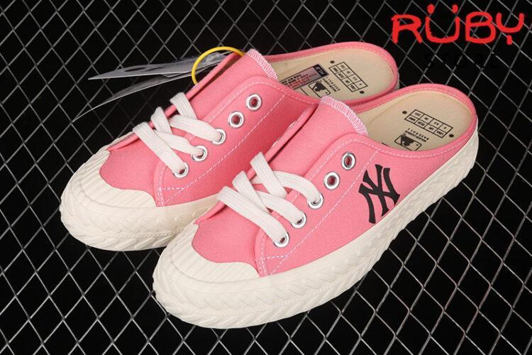 Giày lười MLB NY slip on hồng
