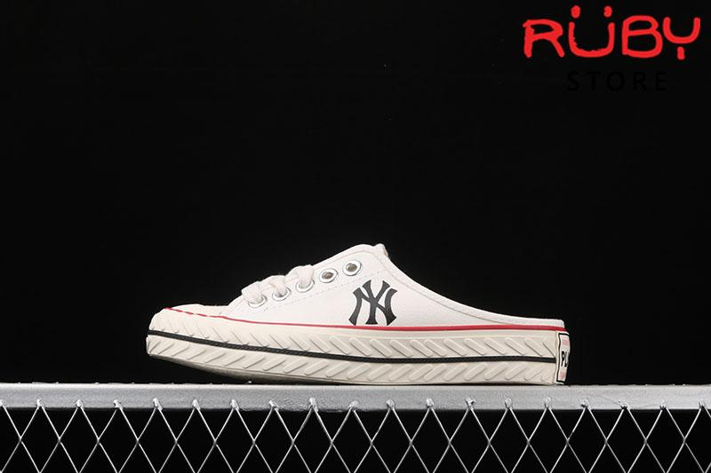 Giày lười MLB NY slip on trắng rep 1:1