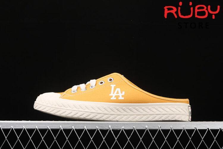 Giày lười MLB NY slip on vàng rep 1:1