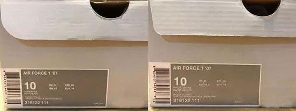cách phân biệt nike air force 1 thật giả