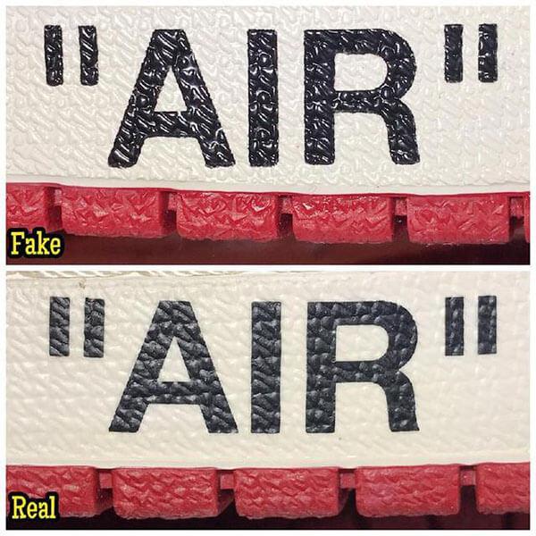 Cách check qua chữ Air trên midsole