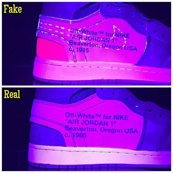 Cách check real và fake qua ánh sáng đèn cực tím