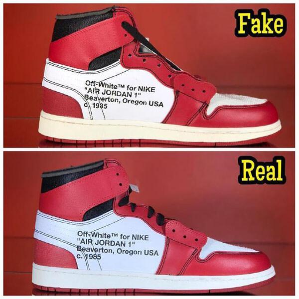 Cách check giày Jordan 1 Off White thật giả