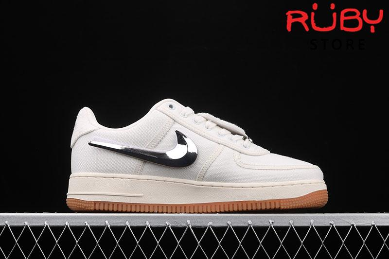 Giày Air Force 1 Low Travis Scott Sail Trắng