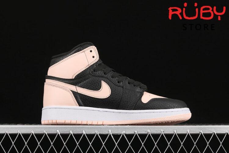 Giày Jordan 1 High Black Crimson Tint đen hồng rep 1:1
