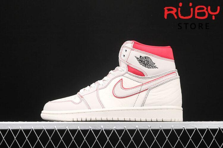 Giày Jordan 1 High Phantom Gym Red trắng rep 1:1