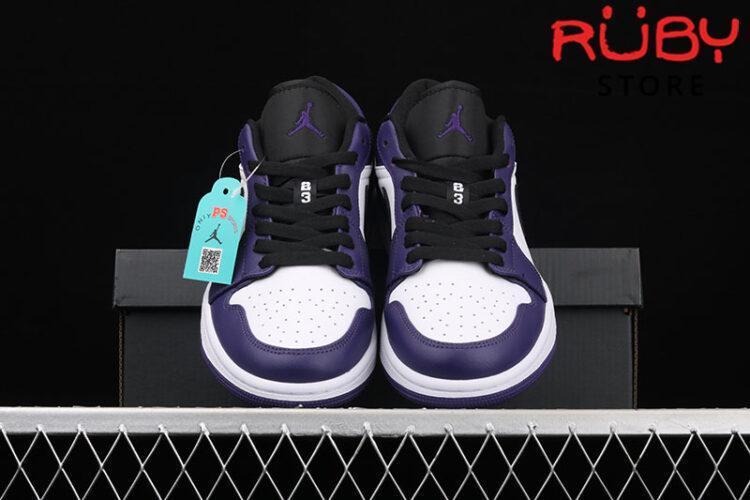 Giày Air Jordan 1 Low Court Purple White Cổ Thấp