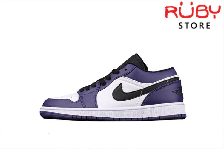 Giày Air Jordan 1 Low Court Purple White Cổ Thấp
