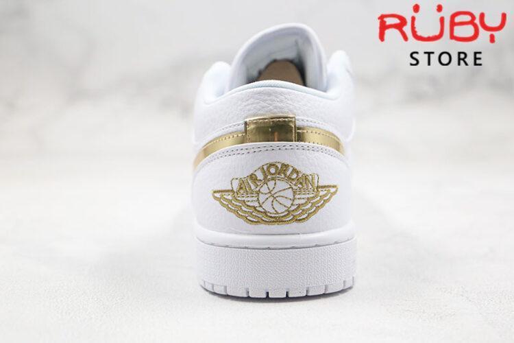 Giày Jordan 1 Low White Metallic Gold