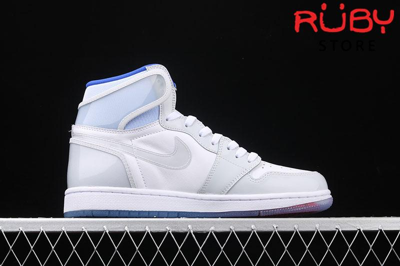 Giày Jordan 1 Retro High Zoom White Racer Blue Trắng Xanh
