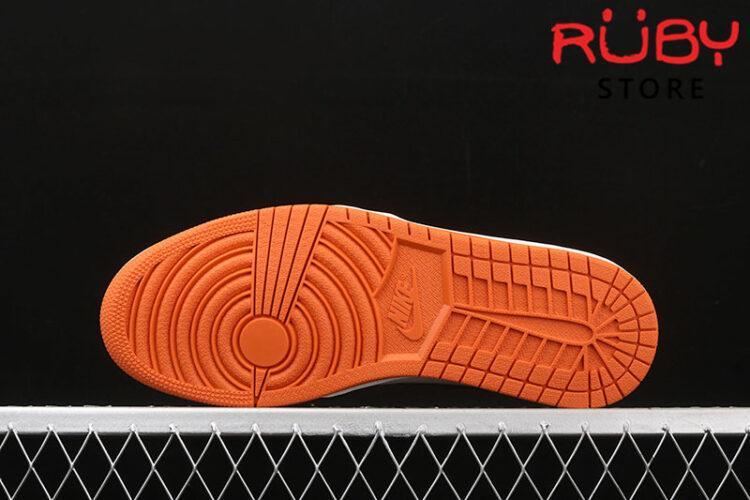 Giày Jordan 1 High Reverse Shattered Backboard trắng cam rep 1:1