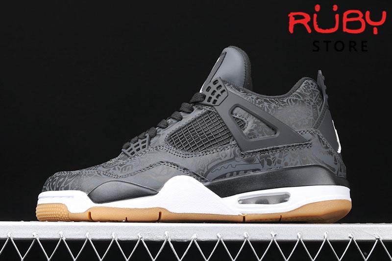 "Giày Air Jordan 4 Laser SE ""Black Gum"" Đen"