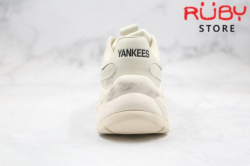 Giày MLB Big Ball Chunky Shiny New York đen chữ chìm bẩn