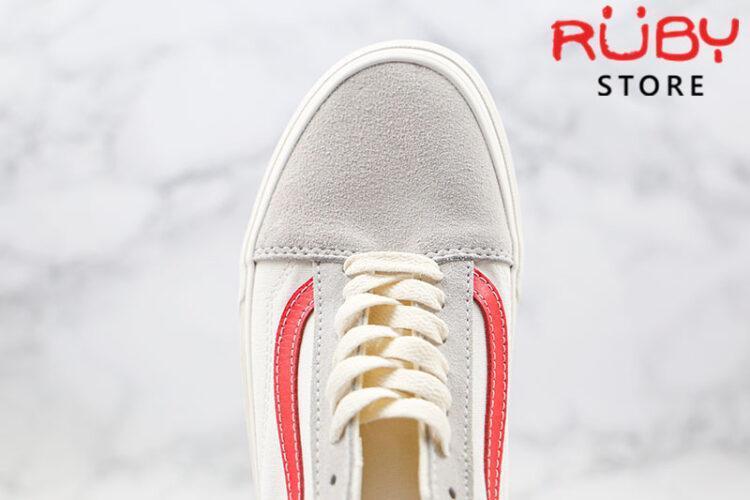 Giày Vans Vault Old Skool Trắng Đỏ