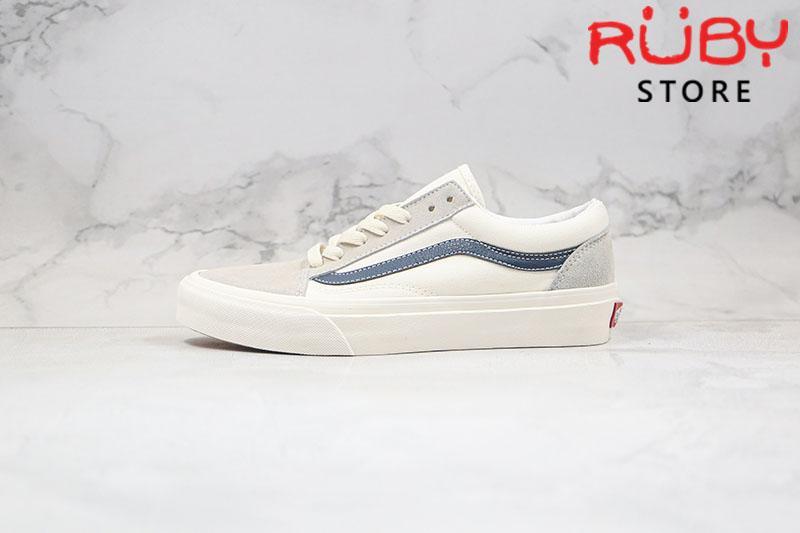 Giày Vans Vault Old Skool trắng xanh rep 1:1