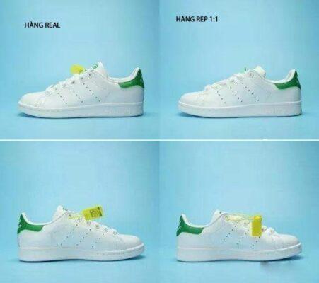 Phân biệt giày Stan Smith real và rep 1:1 chi tiết