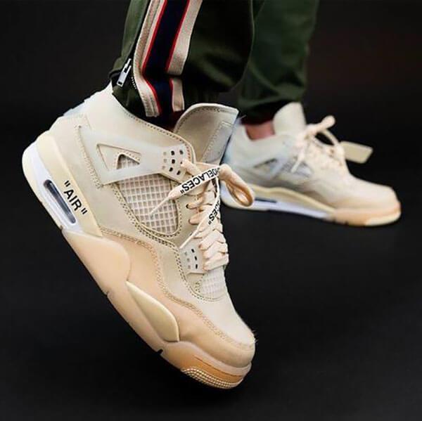 Phối đồ với giày Jordan 4 Off-White nam nữ