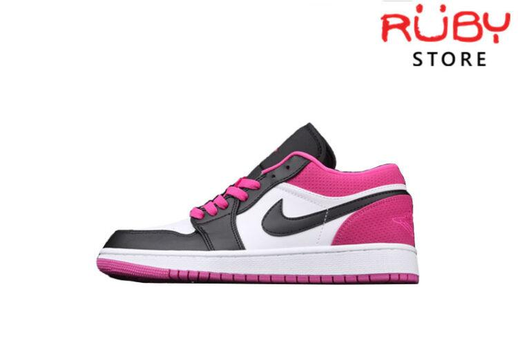 Giày Jordan 1 Low Black Pink Active Fuchsia Đen Hồng