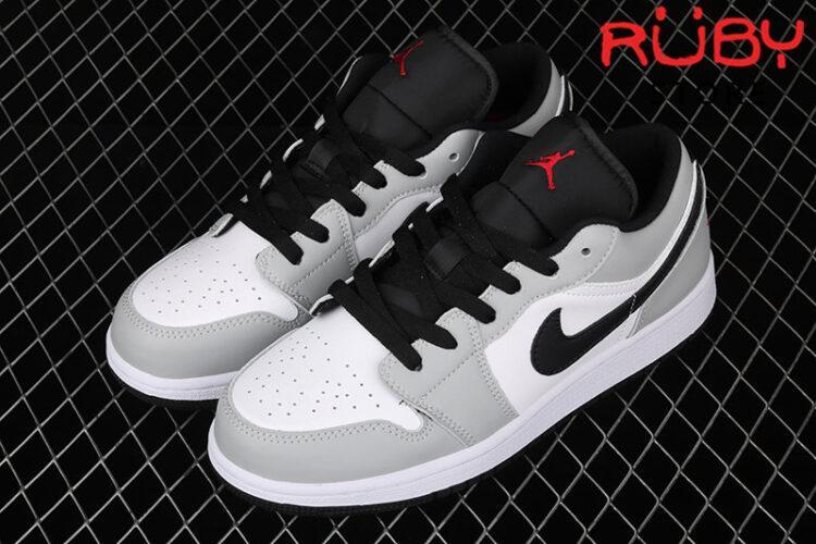Giày Jordan 1 Low Light Smoke Grey Xám Đỏ